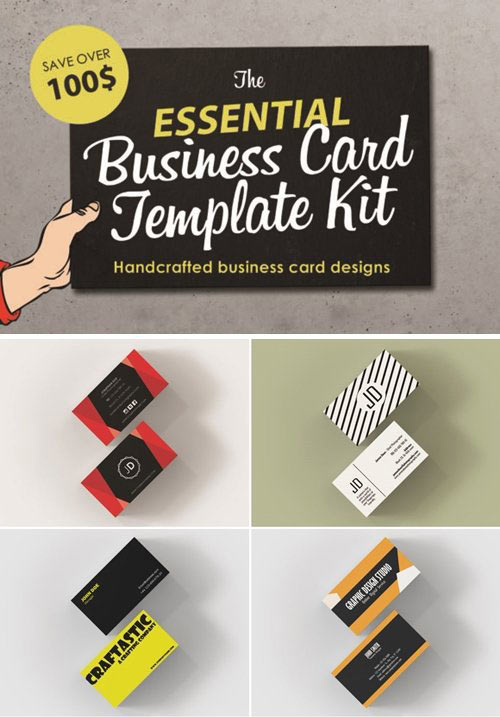 The Essential Business Card Template Kit - Handcrafted Designed
