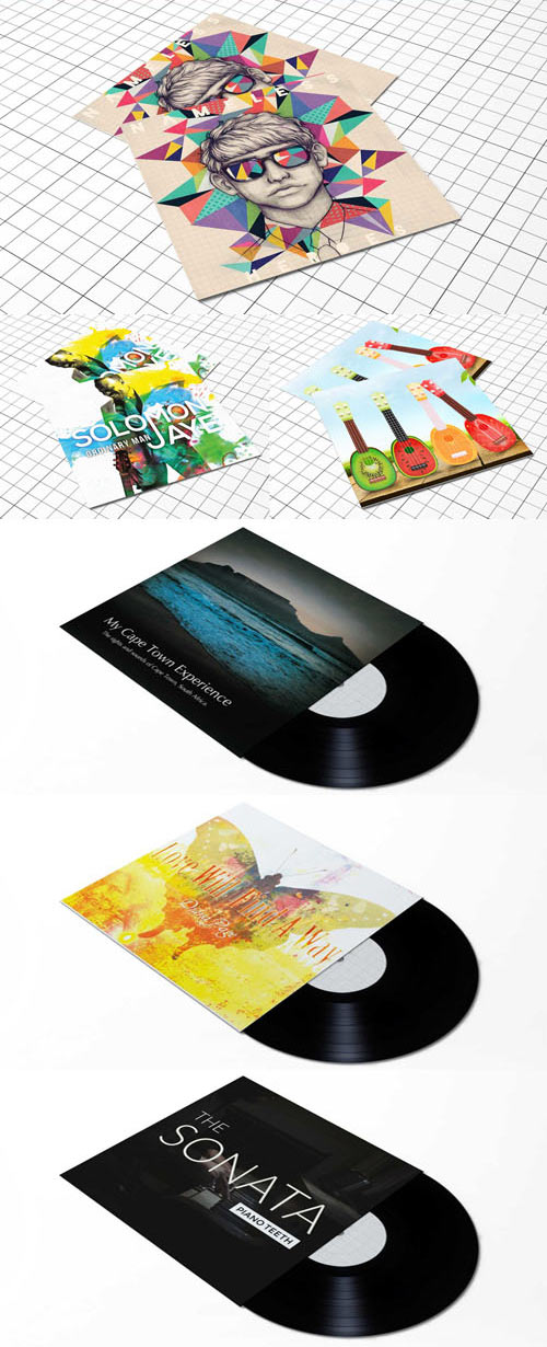 CD/DVD Covers PSD Mockups Collection
