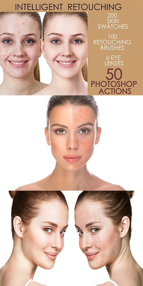 50 Photoshop Actions Retouching Skin