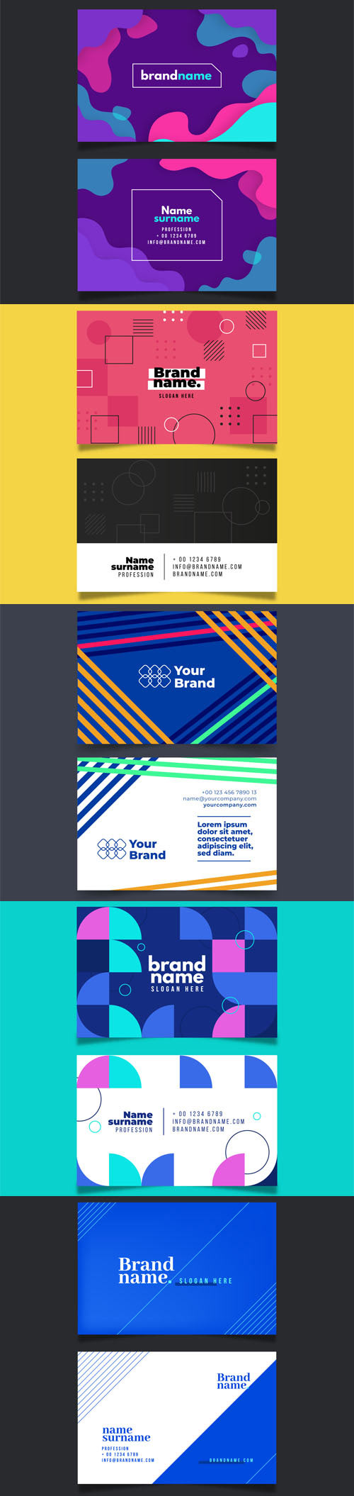 10 Best Business Card Templates in Vector