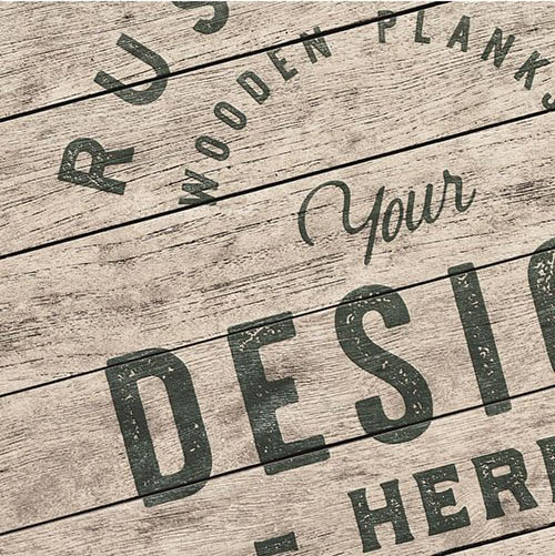 Aged Rustic Wooden Planks Mockup