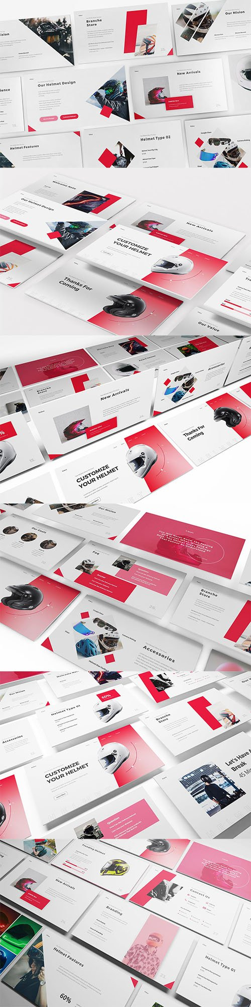 Helmet Shop Powerpoint, Keynote and Google Slides Template