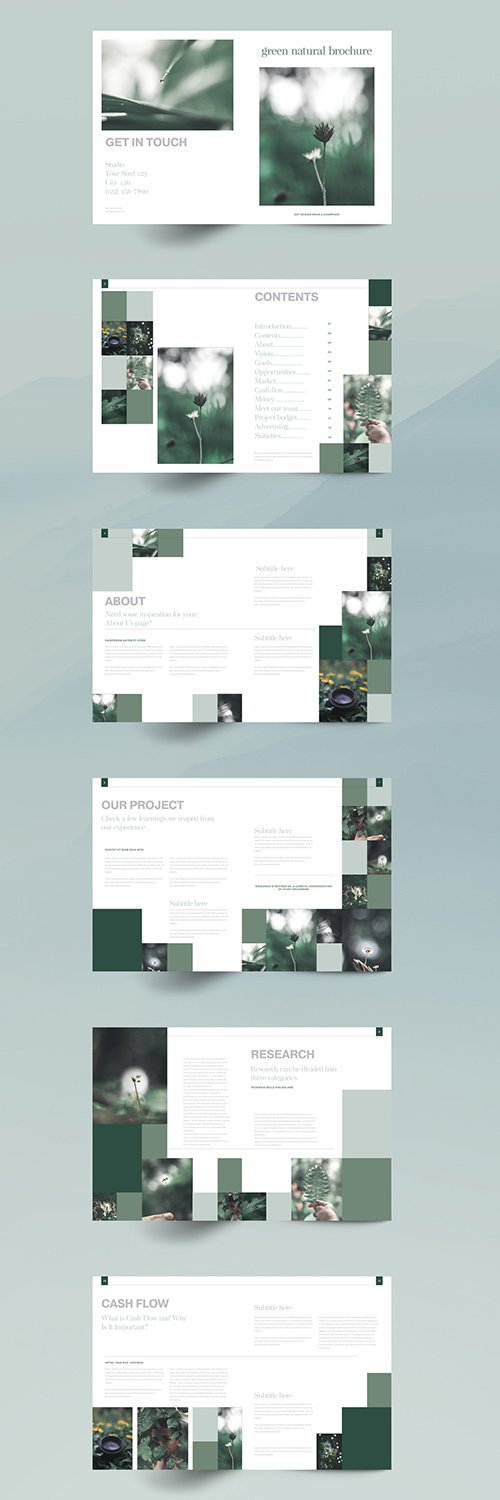 Green Natural Brochure Layout 348626407