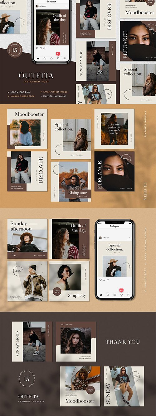 Outfita - Fashion Instagram Post Template