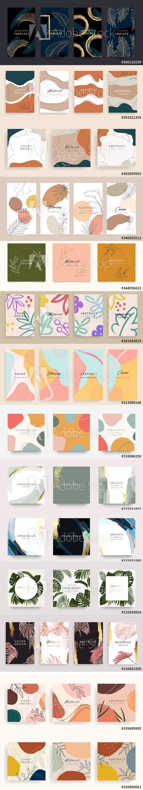 Hand-Draw Abstract Backgrounds for Invitation Template Vol 4