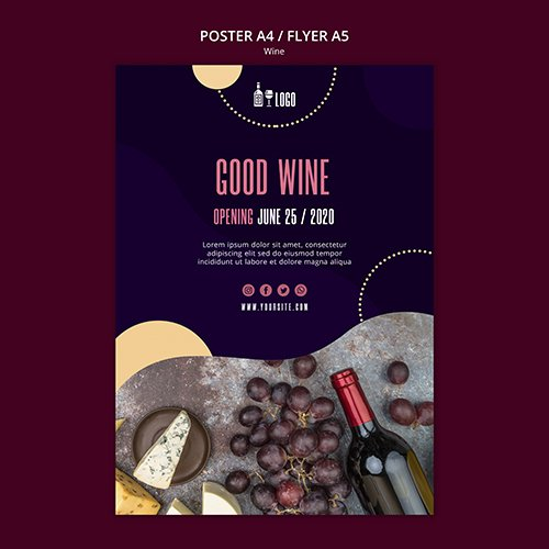 Wine poster template design