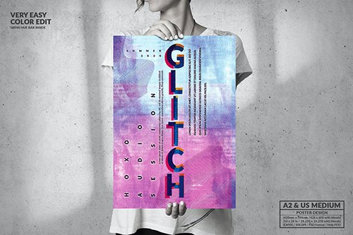 Glitch Music - Big Poster Design