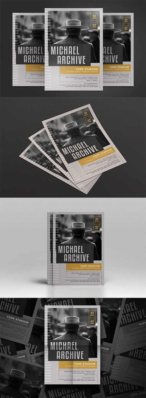 Jazz Music PSD and AI Flyer