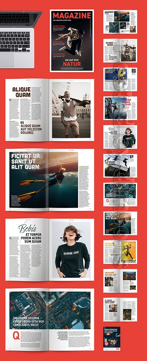 Modern Magazine Layout 331494435