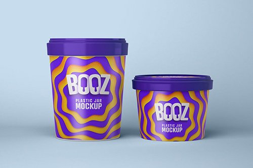 Realistic Ice Cream Cup Mockup 7
