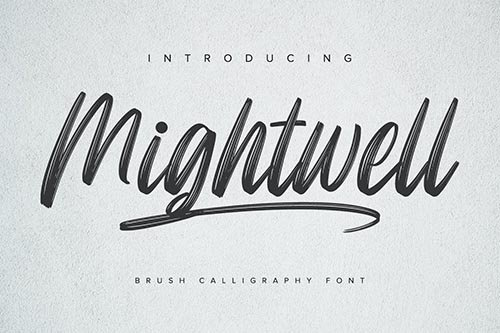 Mightwell - Brush Font