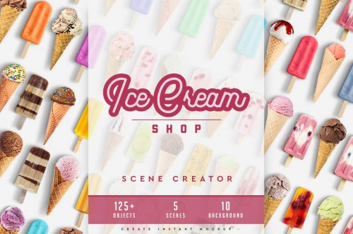 Ice Cream Scene Creator #01 4487477