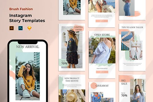 Instagram Stories Template - Fashion Pastel Color