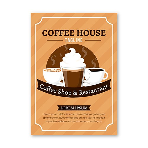 Coffee house flyer template