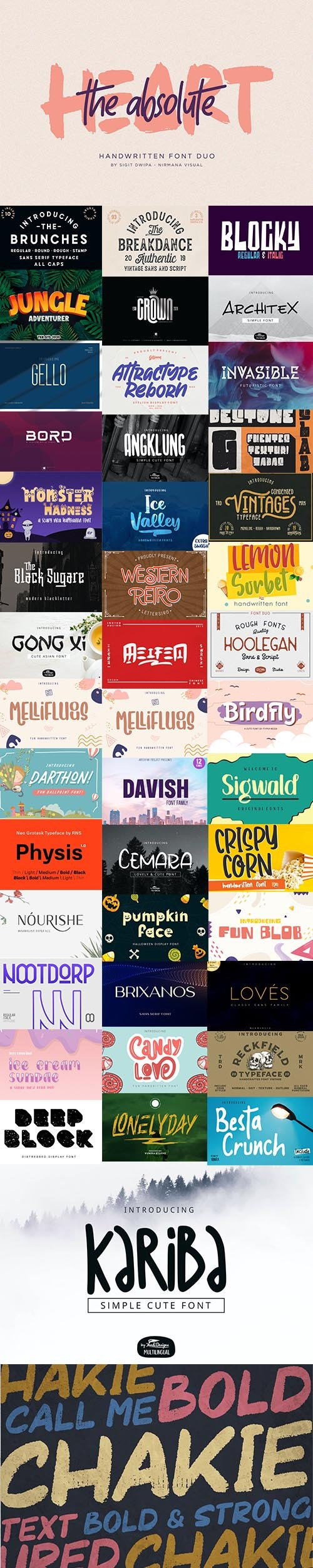 Super Fonts Pack September 2020