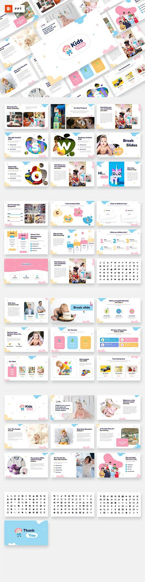 Kids Zone - Kids & Baby Powerpoint Template