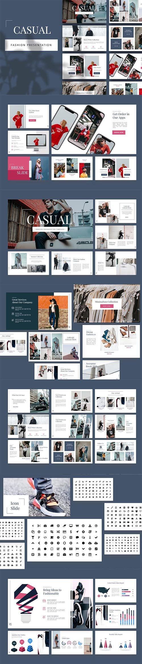 Casual - Fashion Keynote Template