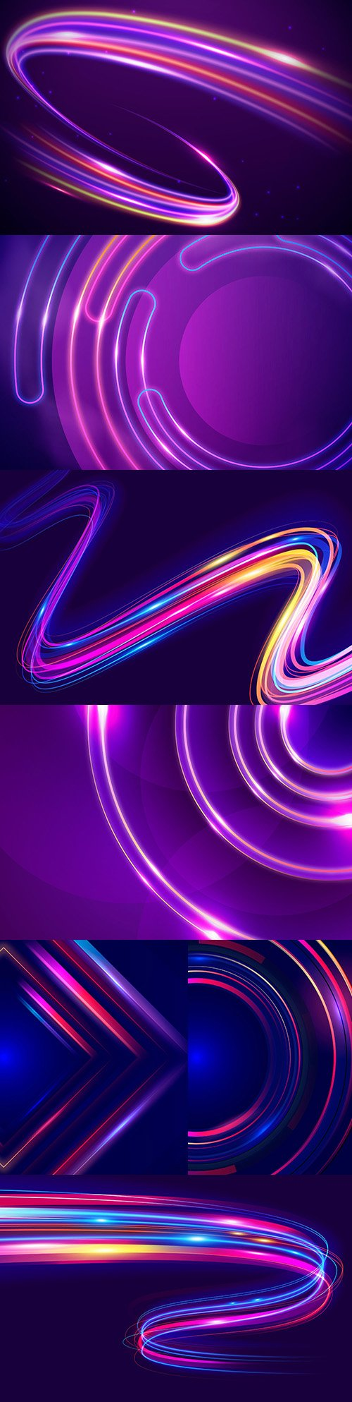 Abstract style neon lights design background