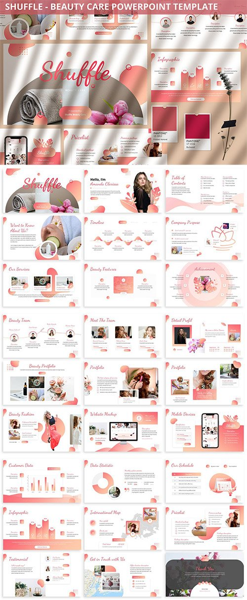 Shuffle - Beauty Care Powerpoint Template