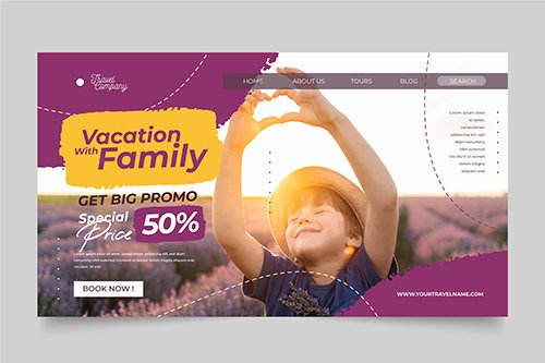 Travel Sale Landing Page Template