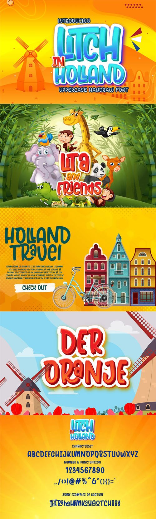 Litch in Holland - Uppercase Font