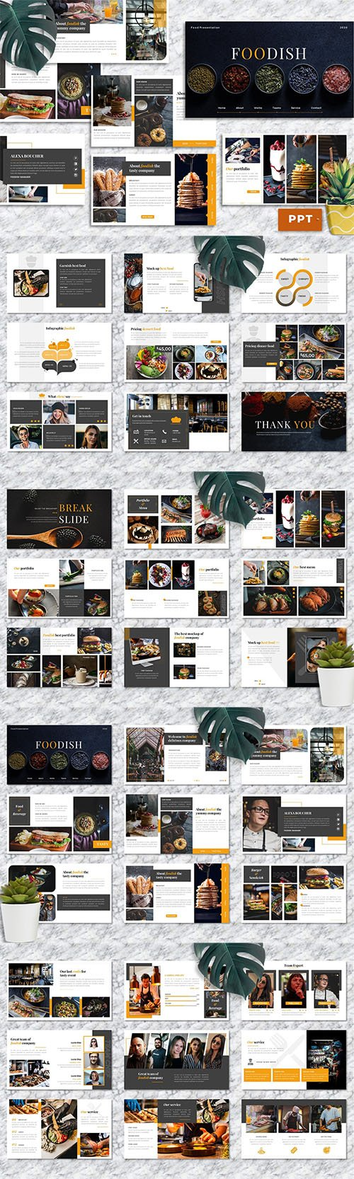 Foodish – Food & Beverage PowerPoint Template