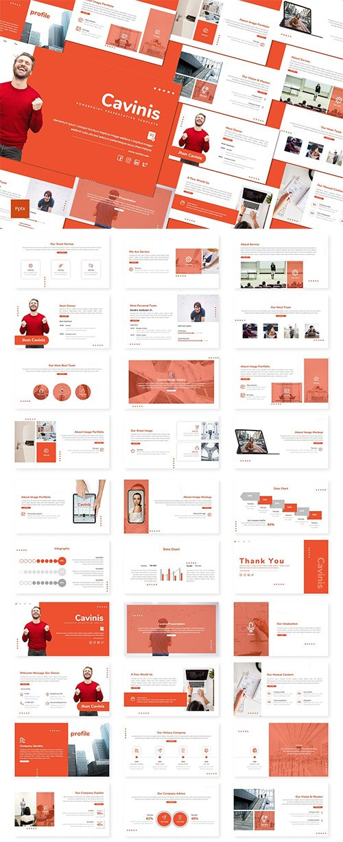 Cavinis - Business Powerpoint, Keynote and Google Slides Template