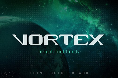 Vortex Technology Sci-fi Future Font