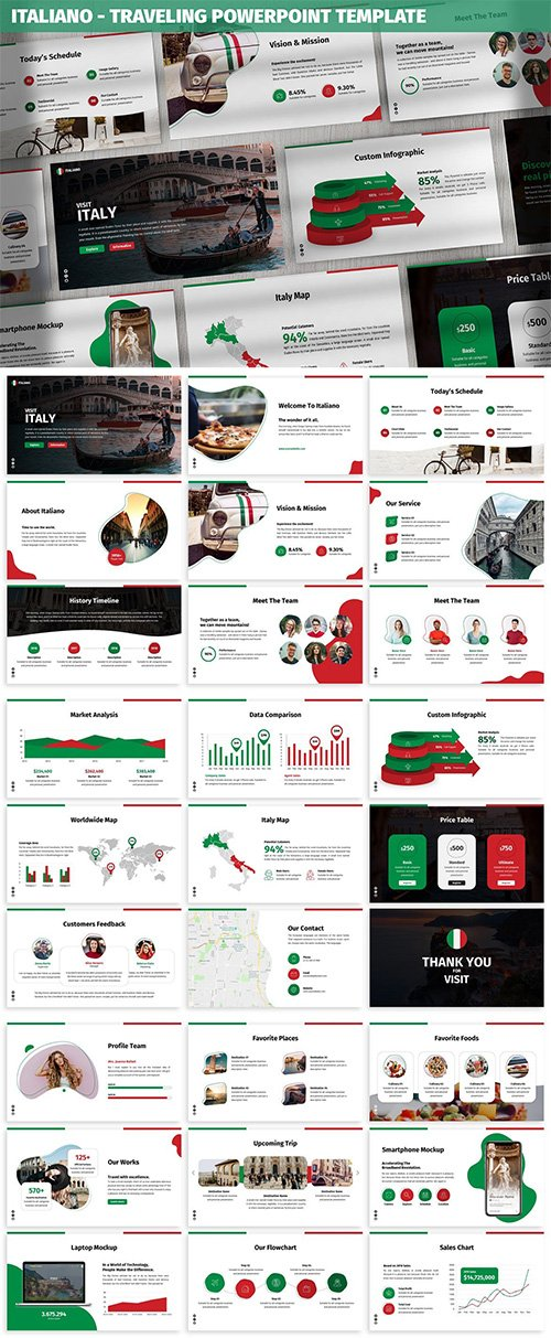Italiano - Traveling Powerpoint Template