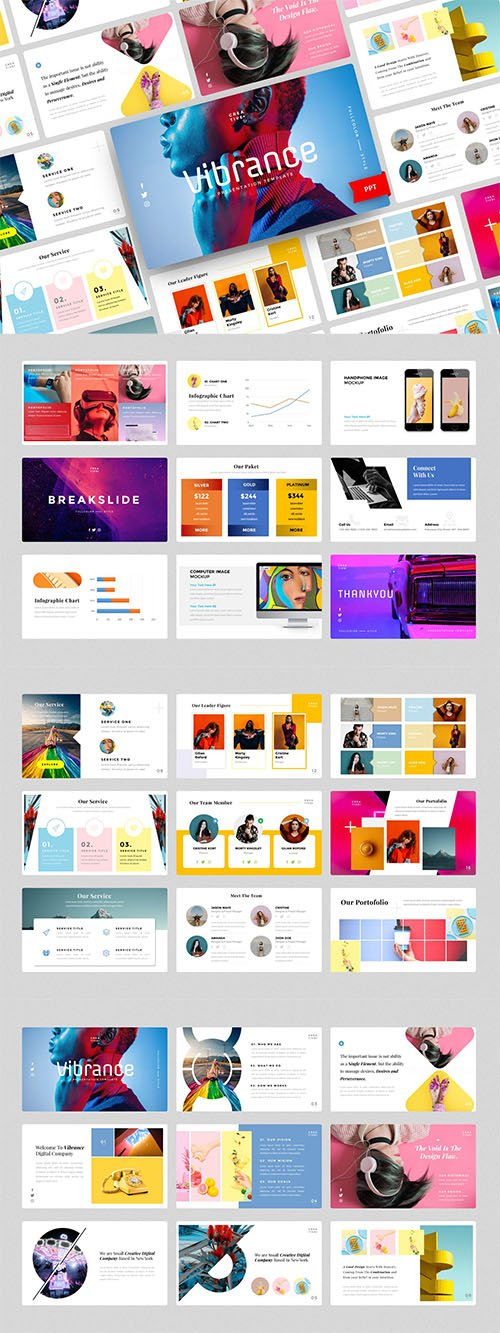 Vibrance-Creative PowerPoint, Keynote and Google Slides Template