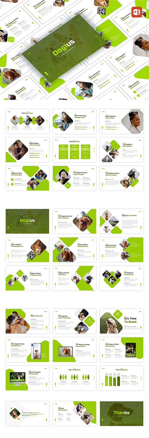 Dogius - Animal Care PowerPoint, Keynote and Google Slides Template