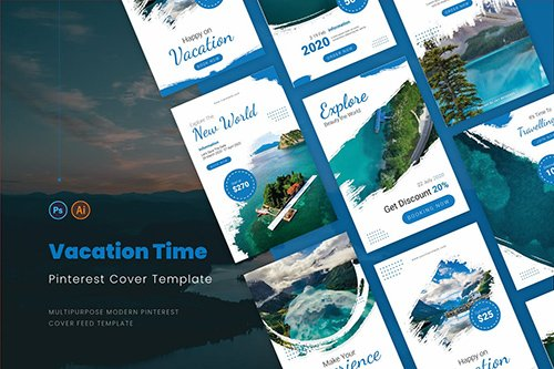 Vacation Time Pinterest Cover