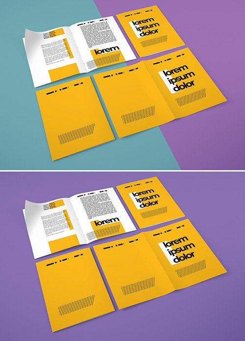 Open and Closed Brochures Mockup 331522015