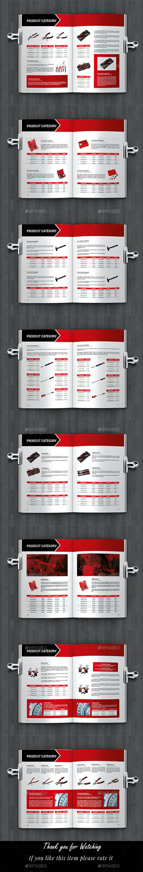 Industrial Products Catalog Template 28142676