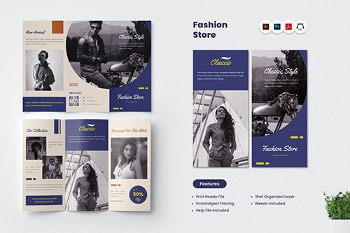 Fashion Store Trifold Brochure