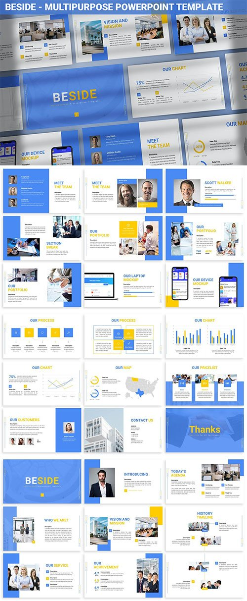 Beside - Multipurpose Powerpoint Template