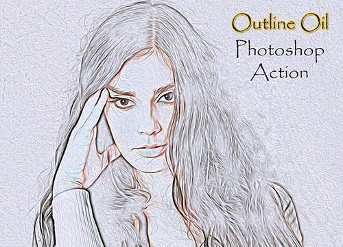 Outline Oil Photoshop Action 4910823