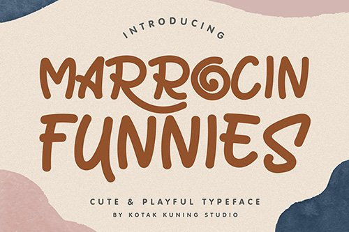 Marrocin Funnies - Playful Display Font