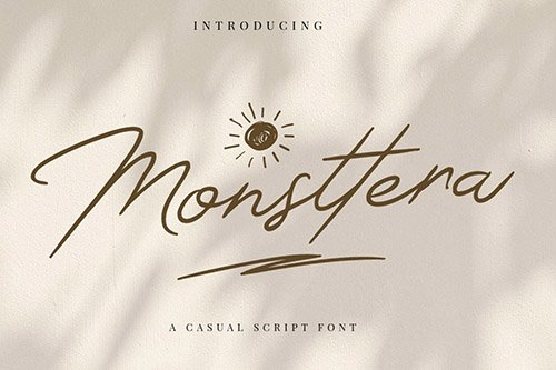 Monsttera | Casual Handwritting