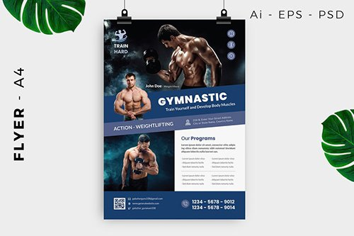 Gymnastic Body Building Flyer Design