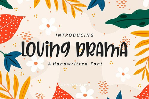 Loving Drama - Playful Font