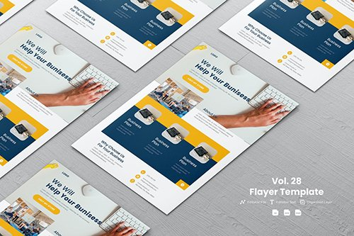 Minimalist Flyer Template Vol. 28