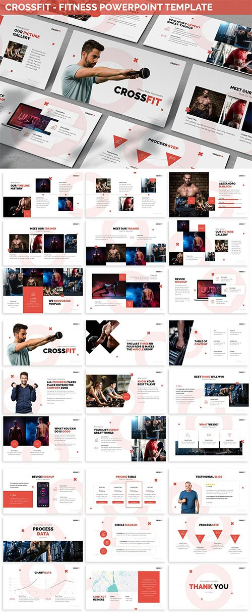 Crossfit - Fitness Powerpoint Template