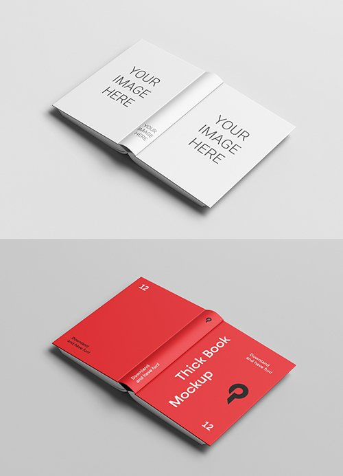 Cover Side of Open Book Mockup 332736876