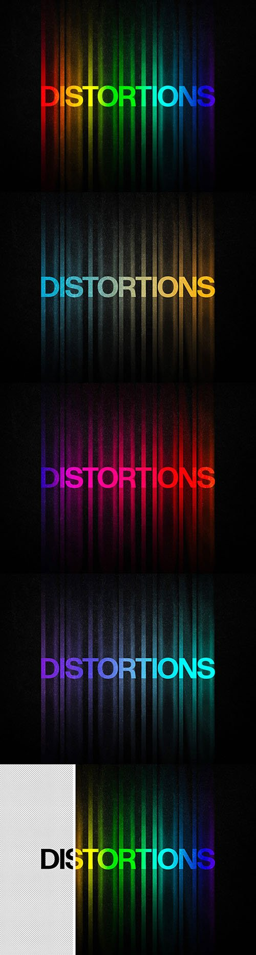 Color Distortion Text Effects for Photoshop