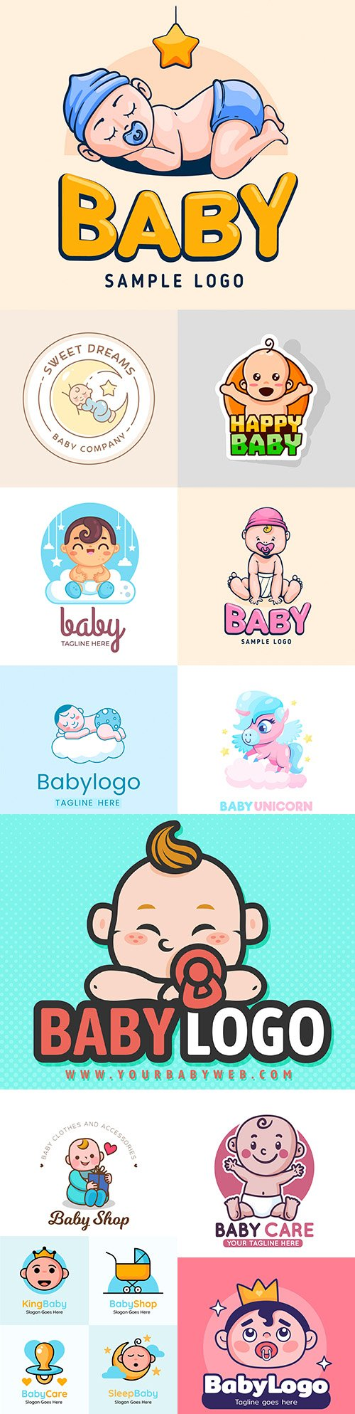 Baby brand name company logos corporate design