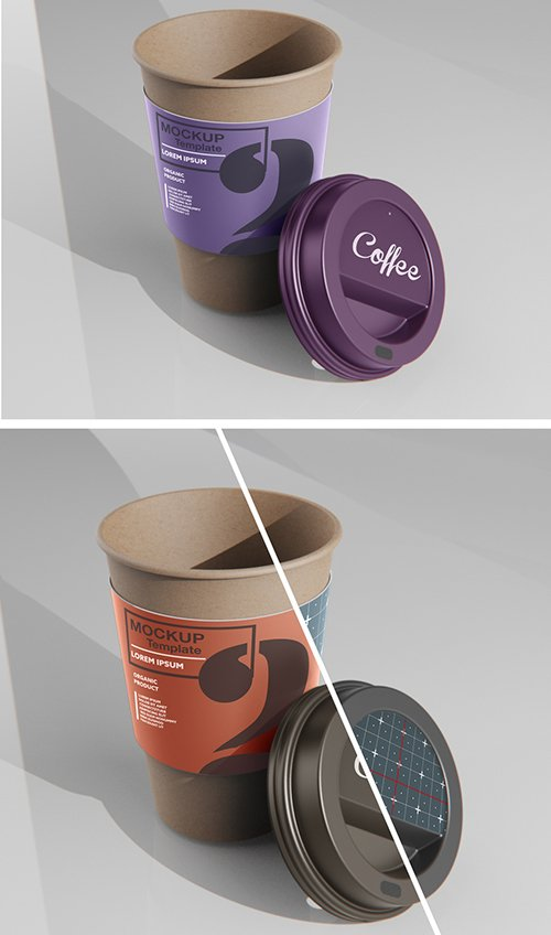 Paper Coffee Cup with Sleeve Mockup 333541394
