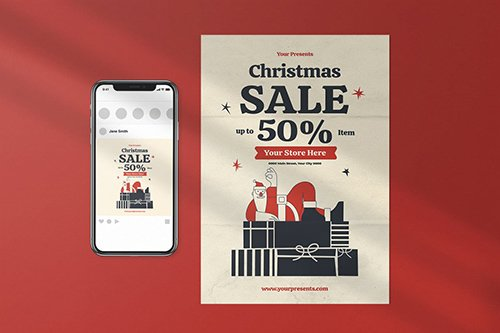 Christmas Sale Flyer Pack