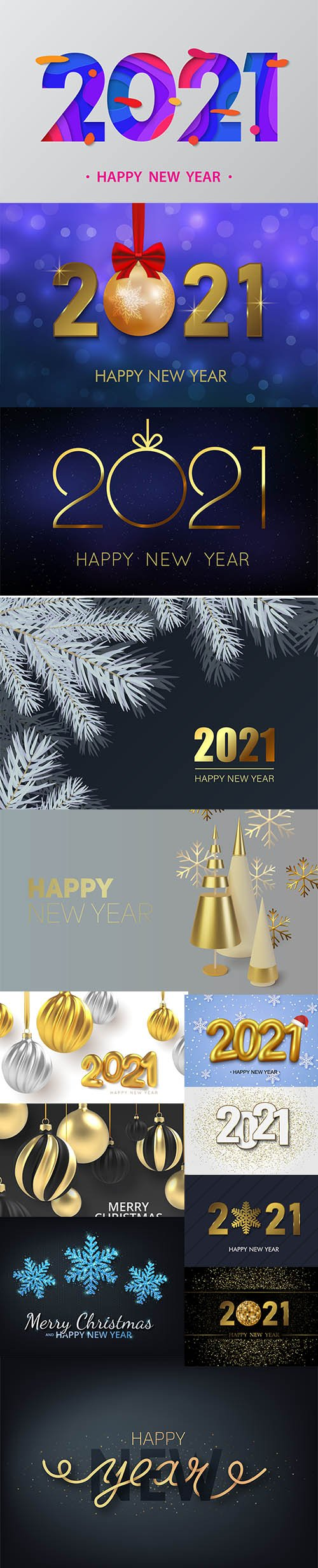 2021 new year background
