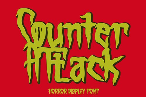 Counter Attack - Horror Font